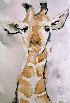 "Giraffe - Fine Art Print , Fine Art Giclee- 16x20, "" It's the Little Things in Life"". $95.00, via Etsy."