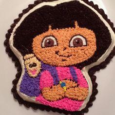 Dora birthday cake.