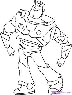 how to draw buzz lightyear from toy story step 7