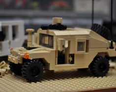 Custom City Hummer HMMWV Truck Black swat by ABSDistributors