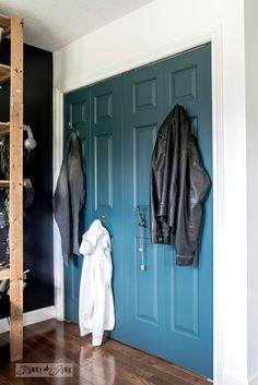 Painted Closet, Kids Bedroom, Bedroom Ideas, Mineral Paint, Funky Junk, Closet Doors, Interior Decorating, Flooring, Storage