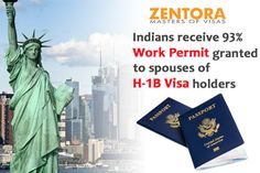 Indians receive 93 percent work permit granted to spouses of H-1B visa holders
