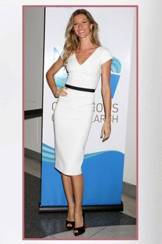 Gisele Bundchen wearing a Victoria Beckham at a ceremony for the UN's Flagship Environment Award in New York City (May 10, 2011).