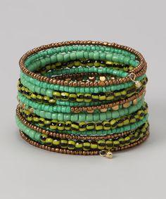 Green Coil Bracelet