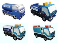 Here are four easy-to-build paper models  of Japanese Emergency Service Vehicles  that are perfect for kids . Offered by Osaka City offici...