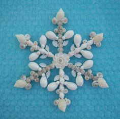 Seashell Ornament Holiday Snowflake Window Wall by OceansofShells, $19.00