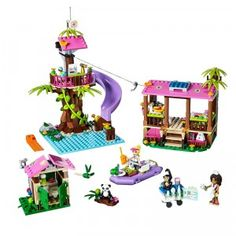 """LEGO Friends Jungle Rescue Base - LEGO - Toys """"R"""" Us. It will probably take a while to build though. Lego City, Legos, Instructions Lego, Lego Friends Sets, Little Panda, Toys R Us, Jouer, Christmas Wishes, Lego Star Wars"""