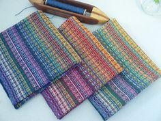 Ravelry: DebbieB's Handwoven Rainbow Candy Napkins