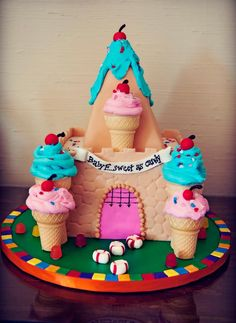 cake for a candyland themed party
