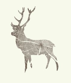 Wood Grain Stag