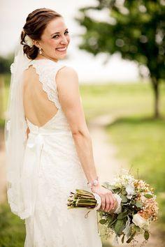 David's Bridal keyhole lace wedding dress #aislestyle #davidsbridal #helzbergdiamonds