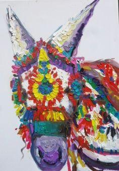 Donkey portrait  Oil on Canvas