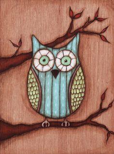 wise old owl by Sandra Mucciardi