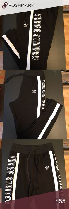 Adidas polyester jogger Adidas polyester jogger. Worn once. Linen like material adidas Pants Track Pants & Joggers