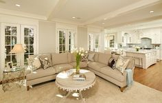 love this family room sectional by Lee industries - covered in Riva Dune