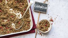 Grain-Free Nut & Seed Granola. This recipe packs a serious punch in the way of healthy fats and protein from plenty of nuts and seeds. And it's naturally sweetened with raw honey.