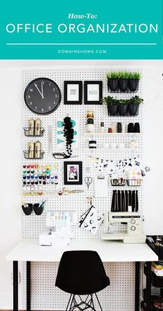 Easy hacks for getting your workspace beautifully organized.