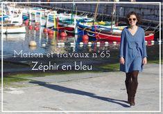Robe Zéphyr de Atelier Scämmit - Tencel bleu Arrow workshop