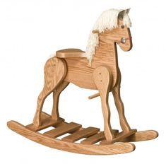 Large Wooden Rocking Horse- OAK | ColoradoRustic - Toys on ArtFire