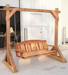 Woodworking Plans - Free Standing Porch Swing Stand