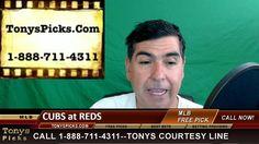 Chicago Cubs vs. Cincinnati Reds Pick Prediction MLB Baseball Odds Previ...
