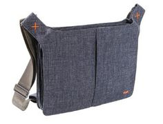 Messenger Bag with PC and iPad case - Bellows - b.denim