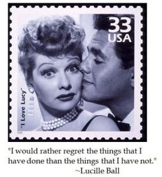 Lucille Ball on Regret #quotes