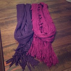 Lot of 2 Scarves- Purple and Magenta 2 winter scarves. Like new condition. Accessories Scarves & Wraps