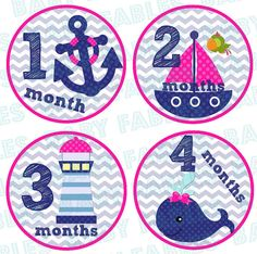 Monthly Baby Stickers Baby Month Stickers Baby Boy by babyfables, $8.75