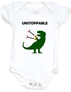 T-Rex Onesie funny Baby Onesie unique baby shower gifts bad ass baby clothes geeky baby onesies personalized baby onesie baby onesies with funny sayings cute funny baby clothes