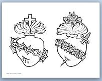 Catholic Inspired ~ Arts, Crafts, and Activities!: Devotion to the Sacred and Immaculate Hearts {Crafts, Printables, and Coloring Pages)