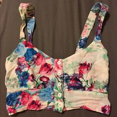 LF Watercolor Bralette Size small watercolor bralette from LF. It's in excellent condition, traded for this but unfortunately, too big through the bust for me. LF Tops