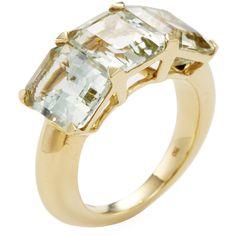 Goshwara Women's 18K Yellow Gold & Prasiolite Ring - Green, Size 7 (1,245 CAD) ❤ liked on Polyvore featuring jewelry, rings, green, yellow gold jewelry, 18k gold ring, gold jewelry, 18 karat gold ring and green quartz jewelry