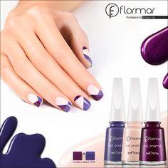 ¡Diseños asimétricos para tus uñas! Utiliza 3 tonos que puedas combinar entre si. ¡Haz que tu uñas sean parte de tu look!