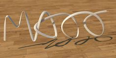 Shoelace Writing Using Spline Wrap tool In Cinema 4d