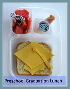 My preschooler's graduation lunch. Could be used for other graduations. // preschool and kindergarten graduation