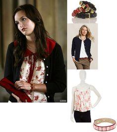 On Blair: Velvet Floral Top, Vita Milano Hex Bracelet