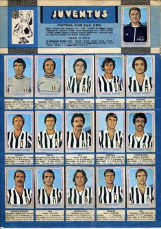 JUVENTUS 1978-1979 Best Football Players, Football Team, Fifa, Football Stickers, Juventus Fc, Squad, Athlete, Champion, Soccer