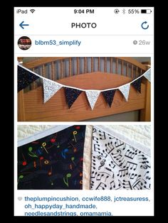 Music Note Bunting by @blbm_simplify on Instagram
