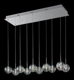 ET2 Bubble Glass Orb 10-Light 33 3/4-Inch-W Pendant Light - #EUV1430 - Euro Style Lighting