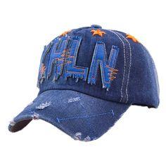 8f46f8563f7 Murah Surat baru pola topi baseball, Pria wanita topi matahari, Bahan Denim  Multi warna