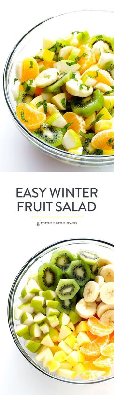 This Easy Winter Fruit Salad recipe is made with seasonal ingredients sweetened…
