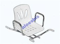 Timago Ławka na wannę OBROTOWA biała, krzesło na wannę - zdjęcie 1