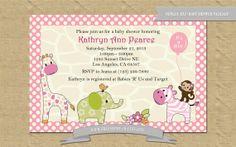 Jungle Jill Themed Baby Shower Invitation Printable by freemsdream, $10.00