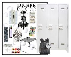"""""""Locker Decor"""" by jennross76 ❤ liked on Polyvore featuring interior, interiors, interior design, home, home decor, interior decorating, U Brands, Betsey Johnson and mylocker"""