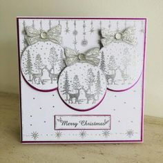 Stamps by Chloe - Winter Woodland Bauble - - Christmas Stamps by Chloe - Chloes Creative Cards Christmas Cards 2018, Christmas Deer, Christmas Baubles, Xmas Cards, Christmas Crafts, Chloes Creative Cards, Stamps By Chloe, Winter Karten, Cards For Friends