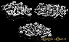 Nity stalowe ocynkowane - łeb kulisty - 4/10 mm - 25 sztuk