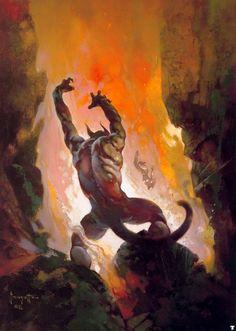 The Marvelous Frank Frazetta – Devil On a Dinosaur
