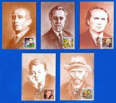 MOLDOVA. Personalities - 2003. Official Maximum Cards set (5 pcs) (Van Gogh)
