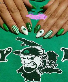 Panathinaikos nail art